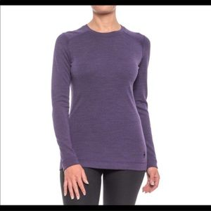 Smartwool Base Layer Purple Long Sleeve Wool Small